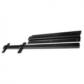 Frattino allunga tavoli nero acciaio 20x400 mm.