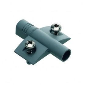 Piastra a croce con bussole distanza attacco 28 mm. fori 32 mm. grigia