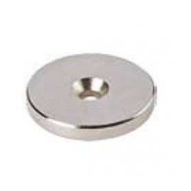 Rondella magnetica NEODIMIO diametro 15X3 mm. nichel foro diametro 3 mm. 0679