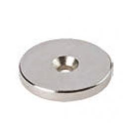 Rondella magnetica NEODIMIO diametro 25X3 mm. nichel foro diametro 3 mm.