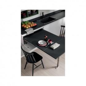 Tavolo a cassetto estraibile 600 mm. portata 100 Kg. alluminio similinox