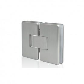 Cerniera per porte in vetro 180° cromo opaco apertura 0-180°