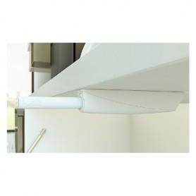 Cricchetto K PUSH TECH con magnete bianco basetta fissaggio vite