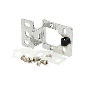 Cerniera EASY per anta vetro/legno spessore 8-10 mm cromo lucido