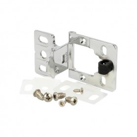 Cerniera EASY per anta vetro/legno spessore 14-16 mm. cromo lucido