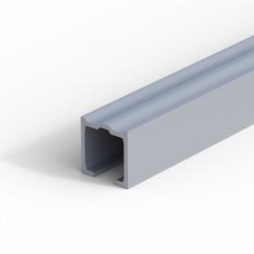 Binario in alluminio grezzo 32x36 mm Lunghezza 3000 mm.