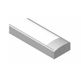Profilo BASILEA 17,4x7,1 mm. alluminio bianco RAL 9003 opaco argento 2 mt.