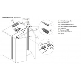Contatto NEOS MAGNETIC incasso diametro 10 mm. bianco cavo 2 mt. AMP