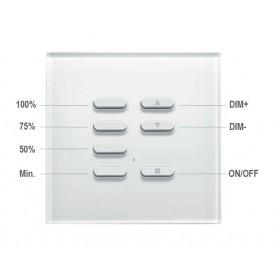 Trasmettitore a parete 4 comandi per la gestione dimmer pre-impostata - Bianco