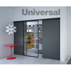 Kit Binario a Parete Universal - argento spazzolato
