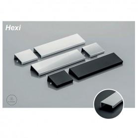 Maniglia HEXI interasse 96 mm. in alluminio 150 mm. lunghezza nero opaco