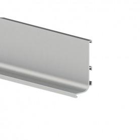 Profilo gola superiore argento orizzontale 4000 mm.