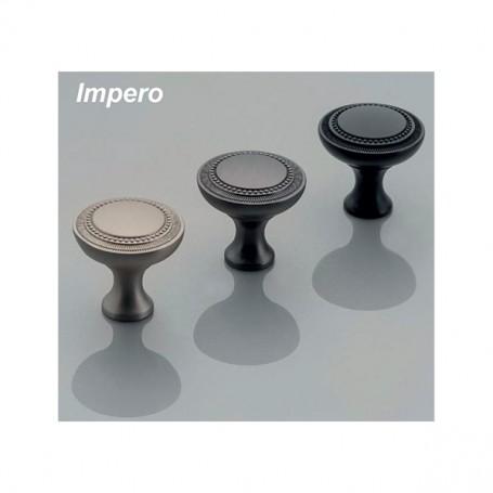 Pomolo IMPERO 31x31,5 mm titanio opaco