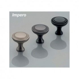 Pomolo IMPERO 31x31,5 mm nero opaco
