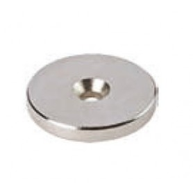 Rondella magnetica NEODIMIO diametro 20X3 mm. nichel foro diametro 3 mm. 0679