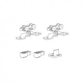 Kit per porta scorrevole con fermi standard portata 30 Kg con staffa NORMALE