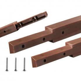 Giunzione per mobili plastica STIK dritta lunghezza 15,8x14 mm. 500 mm.