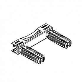Giunzione per assemblaggio orizzontale 8X8 mm. grigia