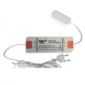 Alimentatore LED 230V 6W 12VDC+A 2 mt. spina EU + distribuzione 12 vie