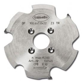 Fresa profilata diamantata 100x7X22 mm.