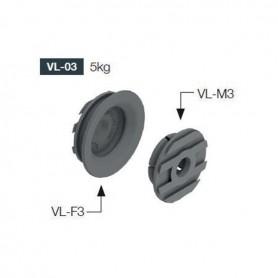 SET Aggancio per pannelli CLICK diametro 25 mm. nero
