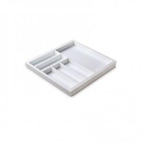 611201000BL2 - Portaposate Première per mobile base mm 600, Misure 518x472x45. Bianco seta