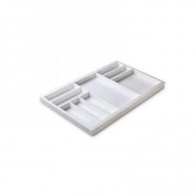 611301000BL2 - Portaposate Première per mobile base mm 900, Misure 818x472x45. Bianco seta