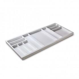 611401000BL2 - Portaposate Première per mobile base mm 1200, Misure 1118x472x45. Bianco seta