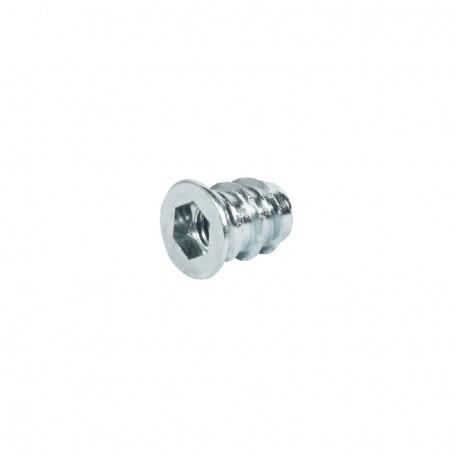Bussola con esagono ferro/zinco filetto m 8X13 mm.