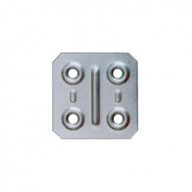 Piastrina quadrata 4x4 mm. zincata