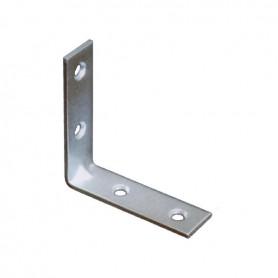 Lastrina piegata 6x6 mm. zincata 09