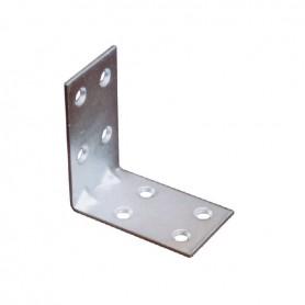 Piastrina giunzione ad angolo 5x5x3 mm. zincata 45
