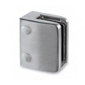 Morsetto rettangolare 70x55 AISI 304 SP. vetro 9,52-