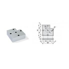 Piedino alumiX7 H30x80 V/all