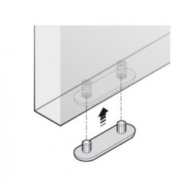 Sottopiede 2 spine H.3 bianco POL-162/A