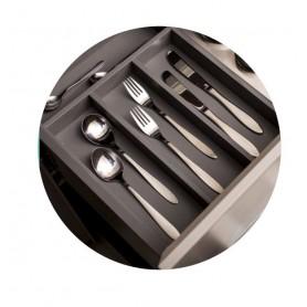 611401000BL2 - Portaposate PREMIERE base 1200 mm Bianco seta