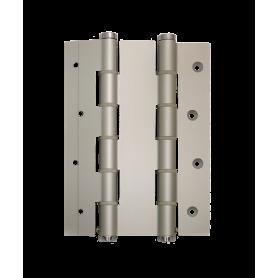 Cerniere doppia azione alluminio per porte a vento spessore 50 mm. apertura 180° anodizzate argento