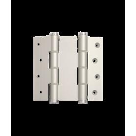 Cerniere doppia azione H.120 alluminio per porte a vento spessore 40 mm. apertura 180° anodizzate argento
