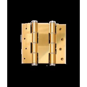 Cerniere doppia azione H.120 alluminio per porte a vento spessore 40 mm. apertura 180° anodizzate oro