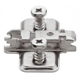 173L8130 - Base clip aggancio rapido acciaio forma a croce
