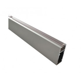 Tubo appendiabito rettangolare 1 mt. con guarnizione alluminio anodizzato in barra da 3 mt.