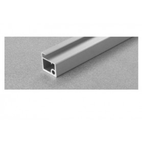 Profilo AIR alluminio per ante vetro titanio mm. 3000