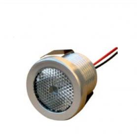 Faretto inclinato 1 LED 1,2 W 60° 4000K 350mA cablato con amp maschio MPK