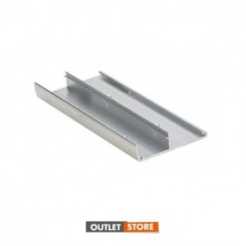 Veletta per binario 34.1280 mm. 6000 alluminio anodizzato argento