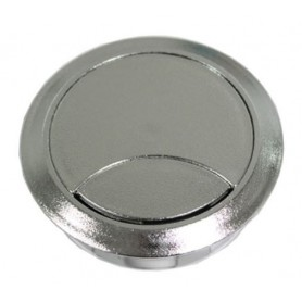 Bocchetta passacavo diametro 60 mm. SILVER RAL9600