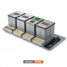 Kit contenitori per differenziata da cassetto per mobile da 1200 H. 300 mm