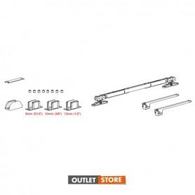 kit porta scorrevole per vetro sp.8-10-12 mm 2 SOFT STOP per porta minimo 850 mm  portata 120 kg