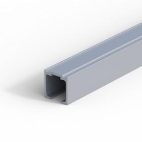 Binario superiore 22,5x22 mm per porta scorrevole L 2000 portata 30 Kg