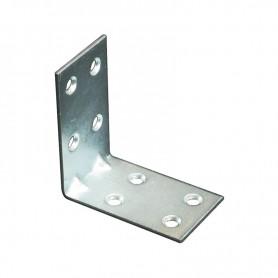 Piastrina ad angolo doppia 4 x 4 x 3  sp. 2 mm zincata art.44