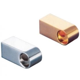 Supporto per tubo diametro 16 mm cromo lucido